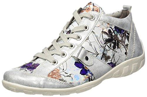 Remonte R3476, Sneakers Hautes Femme Multicolore (Ice/offwhite-metallic / 90)