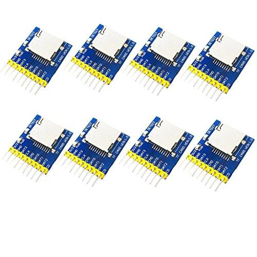 perfk 8 Pezzi Moduli Lettura SD Lettore Slot Per Schede Di Memoria Micro SD Card per Arduino