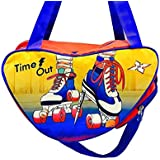 Shopaholic Attractive Orange and Blue Skating Bag for Boys