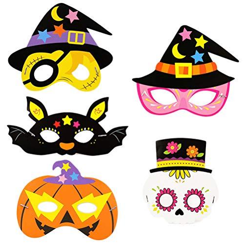 alloween Maske Dress Up Augenmaske Cosplay Kostüm Zubehör für Karneval Maskerade Tanzparty (Zufallsmuster) ()