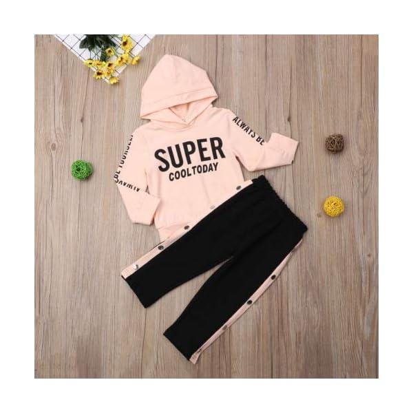 Chándal Niñas Sudadera con Capucha de Manga Larga + Pantalones Largos Ropa de Deporte para Bebé Niñas Pequeñas 2 Piezas… 3