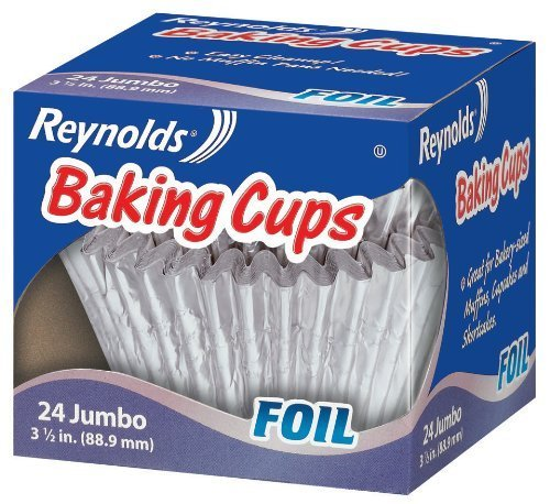 Reynolds Baking Cups, Foil, Jumbo, 3 1/2 In, 24 Count by Reynolds Reynolds Baking Cups