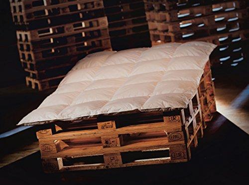 MOON Daunen Ganzjahresdecke / Bettdecke 200x200 50% Daunen / 50% Federn hergestellt in Deutschland