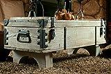 Alte Truhe Kiste Tisch shabby chic Holz Beistelltisch Holztruhe Couchtisch 39 cm Höhe / 41 cm Tiefe / 97 cm Breite