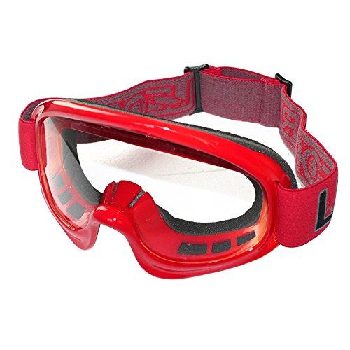 Leopard Motorrad Motocross Schutzbrillen Brille Offroad Einstellbar Rutschfestes Armband - Rot