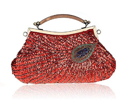 Modello di pavone mano bag/ Pochette di perline/ borsa da sera con paillettes/Package banchetto-C C