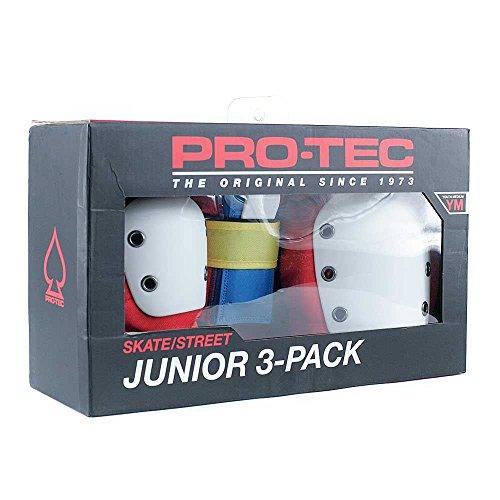 Pro tec Pads Protektoren Street Gear Junior 3Pack, Unisex Kinder, Retro, YS