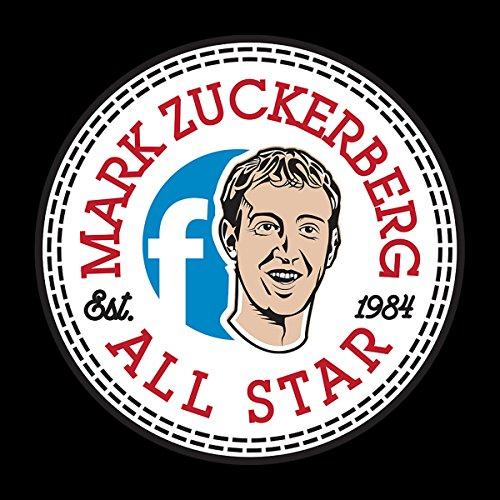 Mark Zuckerberg All Star Converse Logo Men's T-Shirt Black