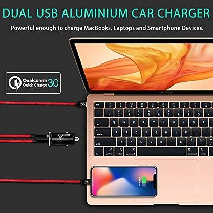 Auto-Ladegert-iSOUL-Metall-Mini-USB-Auto-Adapter-12V-24V-KFZ-Ladegert-2-Port-30W-5V-5A-mit-Aluminium-Legierung-Gehuse-fr-iPhone-11-Pro-XRXS-Max-Samsung-Galaxy-S10-Huawei-OnePlus-Und-mehr