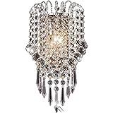 OYGROUP Moderne Kristall Wandleuchte Mit Kristallkugel Wandleuchte Leuchte Für Zuhause Schlafzimmer wohnzimmer Flur Treppen Hotels Lichter (E14 Buchse)