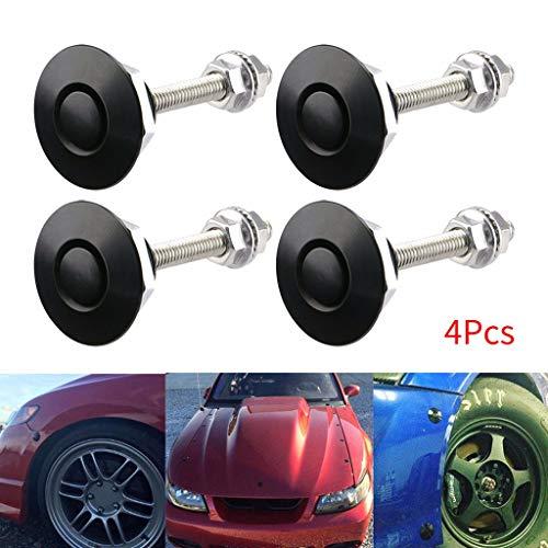 Sonstiges Zubehör für den Außenbereich,TwoCC Push Button Schnell Release Auto Haube Pin Motorhaube Sperre Stoßstange Clip Latches 4St (Leder-bereitstellung Uhrenarmbänder)