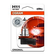 OSRAM ORIGINAL H11, halogen-headlamp bulb, 64211-01B, 12V, single blister (1 piece)