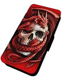 Welsh Dragon calavera–Funda con tapa tipo cartera funda tarjeta soporte iPhone 6/6S