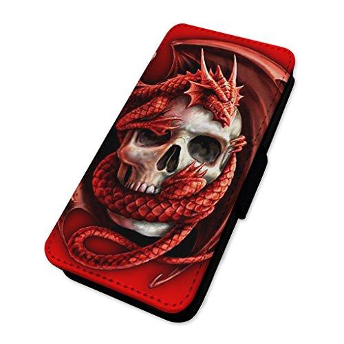 Walisischer Drachentotenkopf–Handy-Klappetui mit Kartenhalter. Huawei P10 Lite