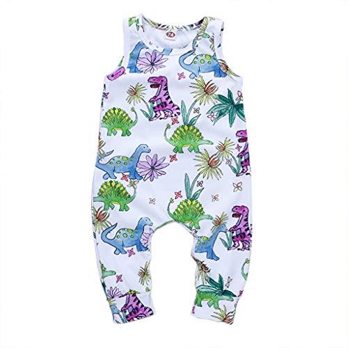 iere Einteilige Overall Baby Jungen Mädchen Lama Delphin Dinosaurier Gedruckt Ärmelloses Tank Body Strampler Outfits ()