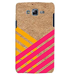 Citydreamz Yellow Pink Stripes Hard Polycarbonate Designer Back Case Cover For Samsung Galaxy A7