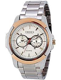 Exotica White Dial Analogue Watch for Men (EFG-05-TT-Steel-W)
