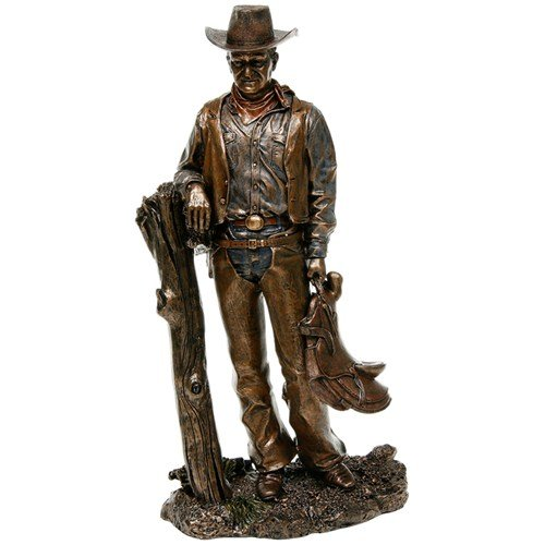 Bronze Screen Legend Standing Cowboy - John Wayne by Studio Collection (Cowboy Bronze)
