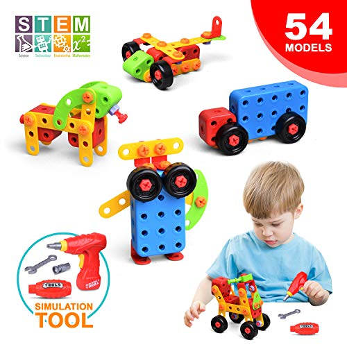LUKAT STEM Learning Toys, Building Blocks for Kids Toys Creative Educational Construction Toy Building Kit, 288 Pieces With Storage Box for Boys & Girls Ages 3+ DIY Engineer Kits
