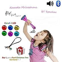 Altavoz Con Microfono Karaoke Para Niños, Chicas Juguetes de Micrófono, Máquina de Canto Infantil Inalámbrica Bluetooth, Equipo de Canto de Fiesta Al Aire Libre Con Diseño de Princesa, Juegos de Baile de Familia Cantando Regalos, Juguetes Electrónicos Creativos Para Niñas de 4 5 6 7 8 9 Años, Regalos de Cumpleaños Para Niñas Adolescentes, Ideal Para Canciones de Disney