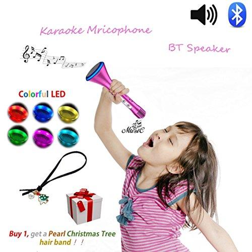 fon, Wireless Singen Maschine, Bluetooth kühlen Halloween-Lautsprecher mit Prinzessin Design, Kreative Elektronik Spielzeug ,Geburtstagsgeschenke für Schwestern Mädchen Jugendliche, Ideal für Disney Lieder (Spielen Kinder-halloween-songs)