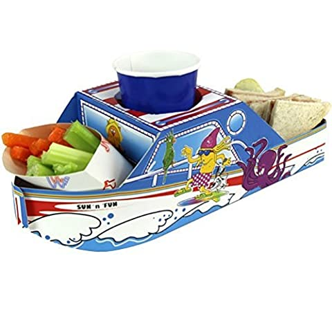 x5 Fun & Sun Boat ~ Speedboat Party Meal Food Trays - Snack Lunch Box Plate Tray by Mustbebonkers