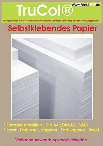 50 Blatt A4 selbstklebendes weißes Papier ;für jeden Tintenstrahldrucker bestens geeignet ! (Blatt Papier Kostüm)