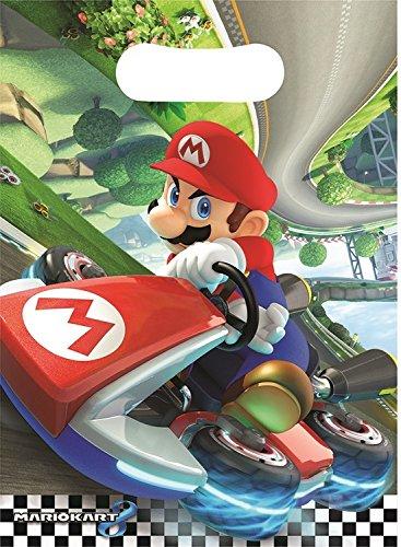 Preisvergleich Produktbild Partytüten * Super Mario Kart * 8 Stück / 16 x 23 cm