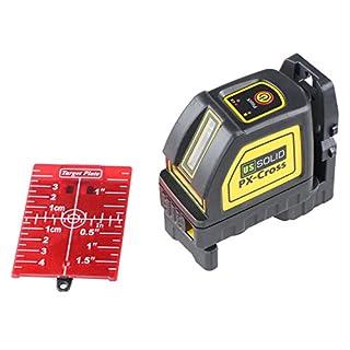 Laser Level, U.S. Solid Cross Line Laser Levels Self Leveling Horizontal Vertical Red Beam with 2 Lines including Magnetic Pivot Bracket, Red Laser Target and Cloth Bag