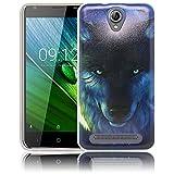 thematys Passend für Acer Liquid Z6 Wolf Silikon Schutz-Hülle weiche Tasche Cover Case Bumper Etui Flip Smartphone Handy Backcover Schutzhülle Handyhülle