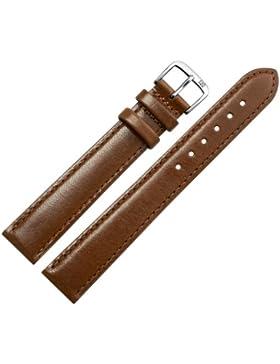 Uhrenarmband 20 mm XL Leder braun mit Naht - Ersatzarmband in Übergröße, extra lang - inkl. Federstege & Werkzeug...