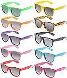 FSMILING Großhandel 80er Jahre Neon farbige Vintage Klassisch Party Sonnenbrille für Herren Damen Kinder