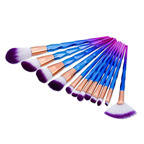 Makeup Brushes, Molie 12 pcs Make Up Brush Set Professional Foundation Eyeshadow Brush Kit, Diamond
