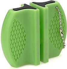Petals Plastic Knife Sharpener, Green