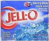 Kraft Jell-o Berry Blue Gelatin Dessert 170g Box