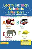 Learn German Alphabets & Numbers: Black & White Pictures & English Translations (German for Kids)