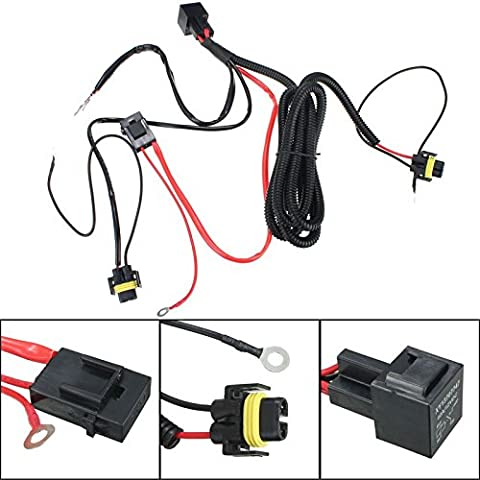 Yongse H11 880 relé arnés de cableado del kit para HID conversión de adición de Niebla Luces LED