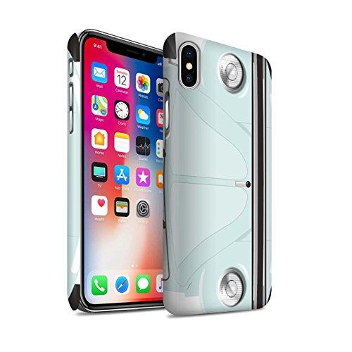 STUFF4 Matte Snap-On Hülle / Case für Apple iPhone X/10 / Leuchtend Orange Muster / Retro Beetle Kollektion Arktisches Weiß