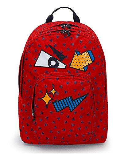 Zaino invicta - dial pack face - fiesta red rosso - tasca porta pc padded - americano 38 lt