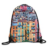 WYICPLO Flag of Minnesota Polyester Drawstring Backpack Cool Backpack Buggy Bag