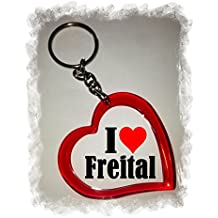 """Exklusive Geschenkidee: Herzschlüsselanhänger """"I Love Freital"""", eine tolle Geschenkidee die von Herzen kommt - Rucksackanhänger- Liebesanhänger- Weihnachts Geschenktipp"""