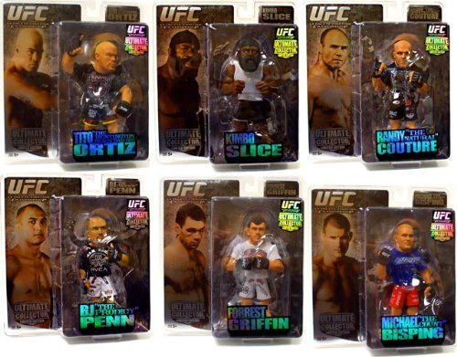 Round 5 UFC Ultimate Collector Series 2 LIMITED EDITION Set of 6 Action FiguresCouture, Penn, Kimbo, Griffin, Bisping Ortiz by Round 5