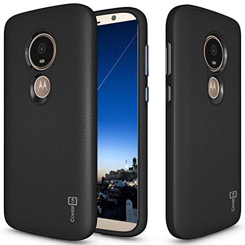 Moto E5Play Schutzhülle, Moto E5Cruise Fall, coveron [Robuste Series] Schutz Hybrid Handy Cover mit Metallic-Tasten für Motorola Moto E5Play/Moto E5Cruise, schwarz (Kind Handys Att)