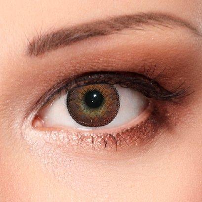 Farbige Kontaktlinsen Dimension Hazel 3 Monatslinsen mit Stärke - 1,75