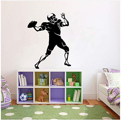Divertido fútbol músculo deportes cocina y gimnasio pegatinas de pared PVC personalizado 48x63cm