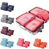 #1: Panzl 6 Set Travel Storage Bags Multi-functional Storage bag,Travel Packing Pouches, Luggage Organizer Pouch Travel Organizers Packing Cubes Laundry Bag Luggage Compression Pouches (Color May Vary)