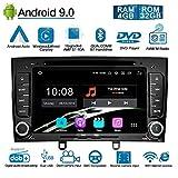 Ohok Android 9.0 Autoradio 2 Din pour Peugeot 308 2011 2012 2013 Stéréo Unité de tête 8 Core 4G+32G Sat Nav avec Lecteur DVD Supporte GPS Bluetooth CarPlay Android Auto WLAN OBD2 7' écran tactile,Noir