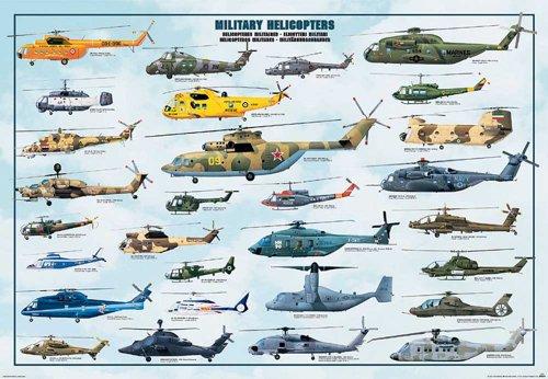 empireposter - Revelatory - Bildung - Military Helicopters Hubschrauber  - Größe (cm), ca. 98x68 - Poster, NEU - Expertness in Englisch - Beschreibung: - Bildung, Lernposter - englische Decipherment -