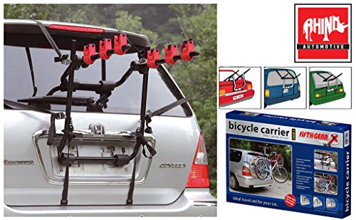 Rhino Automotive© 3 Bicycle Rear Mount Carrier Car Rack Bike Cycle RW0501
