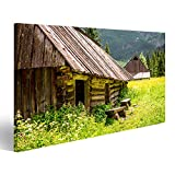 Bild Bilder auf Leinwand Alte Holzhäuser in der Tatra